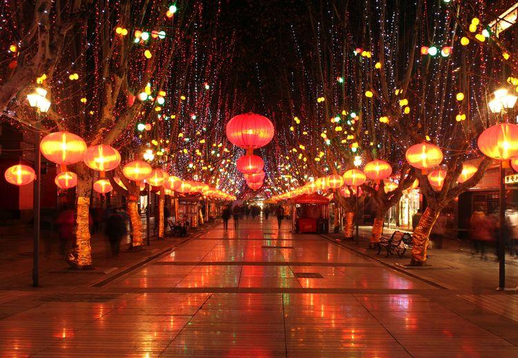 城市春节夜景照明